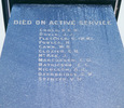 Bluff War Memorial, panel died on active service (Photo Clare-Ann Fortune 2004) - Image has All Rights Reserved