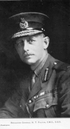 Portrait, Brigadier-General H.T. Fulton, from frontispiece New Zealand Rifle Brigade by Lt-Col. W.S. Austin, 1924 - No known copyright restrictions