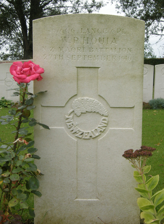 Headstone, Dartmoor Cemetery, Somme (photo Rose Young 19 September 2007) - No known copyright restrictions