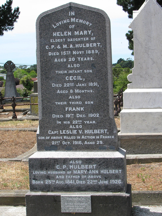 Family grave memorial, Linwood Cemetery (photo S. Lees 1 Jan 2010) - No known copyright restrictions