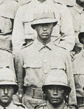 Portrait, detail from Group photo, WW1 Canterbury Maori Contingent (photo kindly provided by Chris Cooke, 2008) - No known copyright restrictions