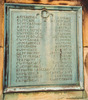 Auckland Grammar School War Memorial, Panel 1, bronze plaque, names McArthur - O' Connor (Photo P. Baker 2008) - No known copyright restrictions
