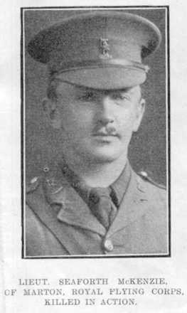 Portrait, Lieutenant S.W. McKenzie. (Source: Auckland Weekly News, 7 March 1918, p. 34) - No known copyright restrictions