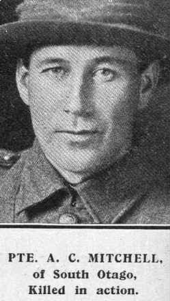 Portrait of Private Archibald Clement Mitchell, Auckland Weekly News, 18 July 1918. Image has no known copyright restrictions.