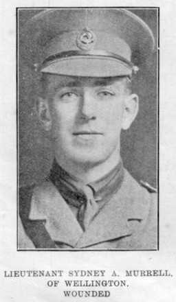 Portrait of Lieutenant Sydney Allan Murrell (Auckland Weekly News, 20 September 1917, p. 36) - No known copyright restrictions