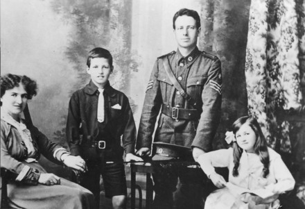 Family photograph Left to right Florence Norton (wife), L.G.Norton (son), Henry Norton ( (8/3816 8/3876), Jean Norton (daughter). Image kindly provided by Fleur Lindsay (1999). No known copyright restrictions