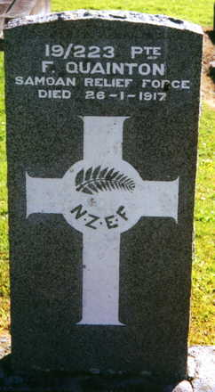 Headstone, Purewa Cemetery (photograph provided by Paul Baker) - No known copyright restrictions