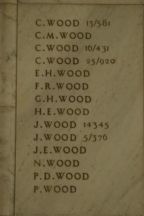Auckland War Memorial Museum, World War 1 Hall of Memories Panel Wood, C. - Woods, P. (photo J Halpin 2010) - No known copyright restrictions