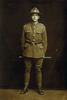 Formal portrait, in Infantry uniform standing with swagger stick - No known copyright restrictions