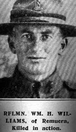 Portrait of Rflmn, Wm. H. Williams of Remuera, Killed in Action. - No known copyright restrictions
