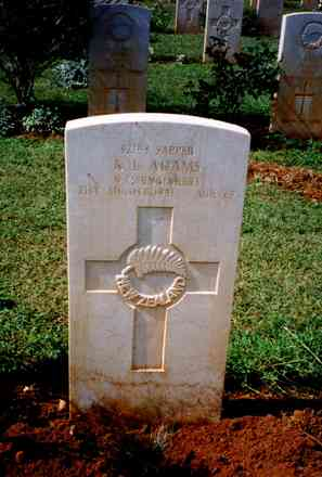Headstone, Suda Bay War Cemetery (supplied by Mr J Brown 1998) - This image may be subject to copyright