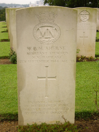 Headstone, Kranji War Cemetery. (photo P. Lascelles, 2008) - This image may be subject to copyright