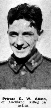 Geoffrey Wynne Alison in uniform, Weekly News 21.5.1941, p.30 - This image may be subject to copyright