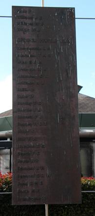 Takapuna War Memorial WW1 name panel 2 and WW2 name panel 1 (photo John Halpin, July 2013) - CC BY John Halpin