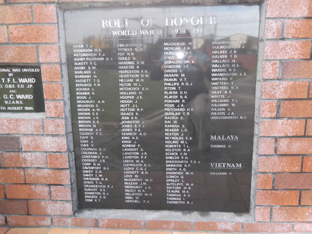 Roll of Honour WW2, Northern Wairoa RSA, Dargaville (photo Ivan Conlon, 2012) - This image may be subject to copyright