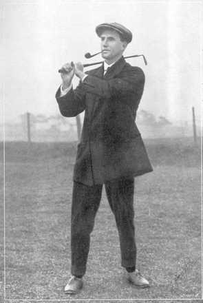 John Cullen Burns playing golf from the King's College Honour Roll, WWI - No known copyright restrictions