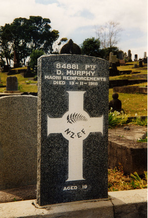 Image of headstone at O'Neill's Point Cemetery provided by Paul Baker 2002. - No known copyright restrictions