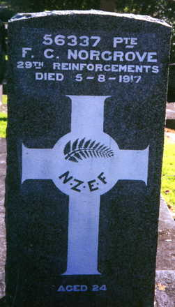 Headstone, Purewa Cemetery (provided by Paul Baker) - No known copyright restrictions