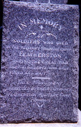 Featherston memorial, panel - No known copyright restrictions