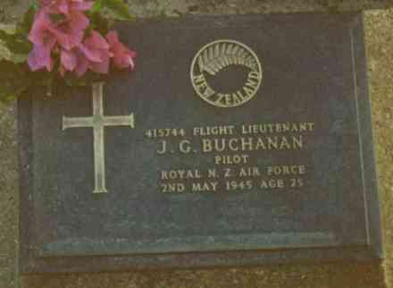 Headstone, Rangoon War Cemetery (kindly provided by family) - This image may be subject to copyright