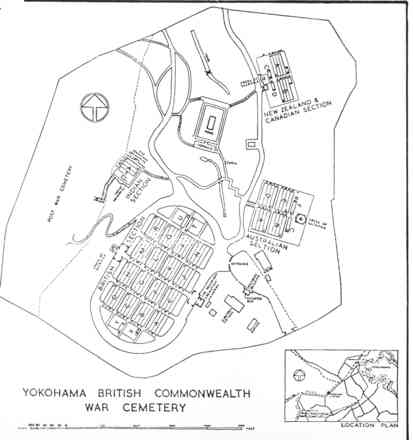 Plan of Yokohama War Cemetery - This image may be subject to copyright