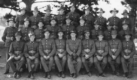 Group photo (possibly of the 19 Wellington Rifles) has Mervyn Smith in the front row, far left. - This image may be subject to copyright