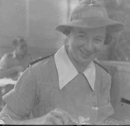 Winifred Bell, probably taken in Syria, 1942. - This image may be subject to copyright