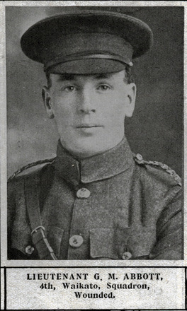 Portrait of Lieutenant Gavin Melville Abbot (Auckland Weekly News Honour Roll 1915). - No known copyright restrictions