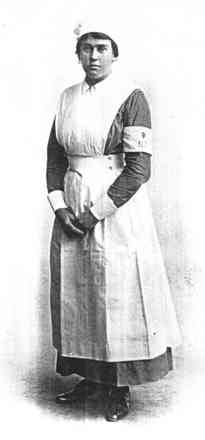 Portrait, Mary Meta Callender in VAD uniform (kindly provided by family) - No known copyright restrictions