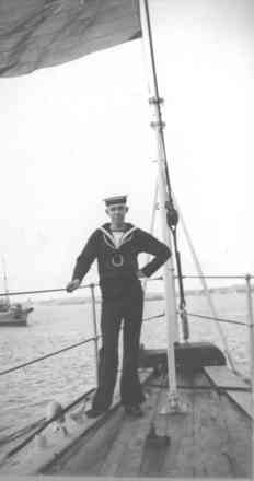 Seaman Boy on board HMNZS Philomel, portrait, taken in May 1931 - This image may be subject to copyright