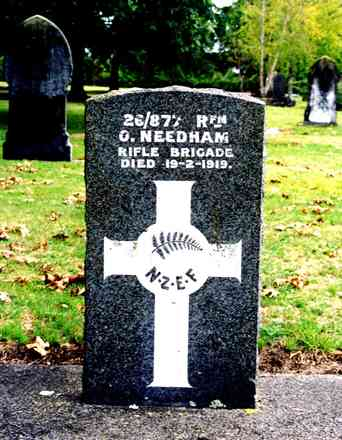 Headstone, Rotorua Cemetery (photo G.A. Fortune in 1999) - Image has All Rights Reserved