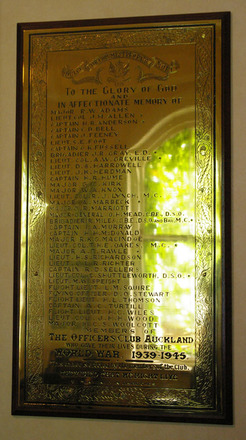 Roll of Honour, Officers' Club Auckland (photo John Halpin, January 2012) - CC BY John Halpin
