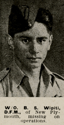 Portrait of Warrant Officer Bert Sam Wipiti, Auckland Weekly News, 29 December 1943. Auckland Libraries Heritage Collections AWNS-19431229-20-36. Image has no known copyright restrictions.