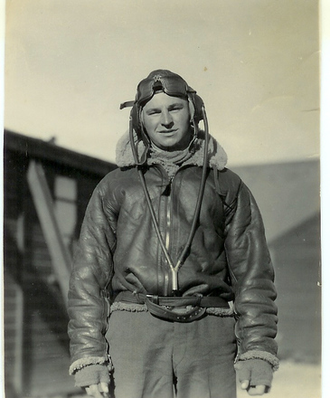 Portrait, in flying kit - This image may be subject to copyright