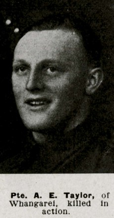 Portrait, Alfred Edward Taylor, killed in action - This image may be subject to copyright