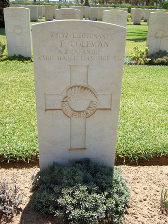 Headstone, Sfax War Cemetery, Tunisia (photo B. Coutts, 2009) - This image may be subject to copyright