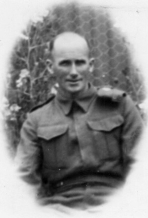 Portrait, Jack Dungey in uniform (kindly provided by family) - This image may be subject to copyright