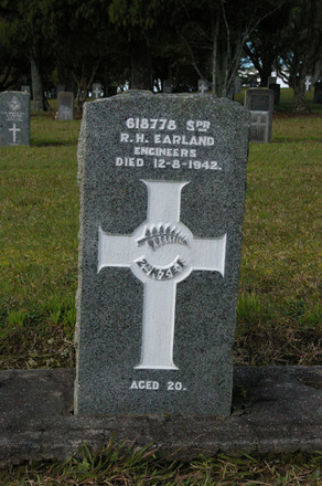 Headstone, Waikumete Cemetery, (photo J. Halpin 2011) - This image may be subject to copyright