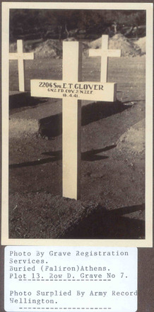 Wooden cross, Phaleron War Cemetery - This image may be subject to copyright