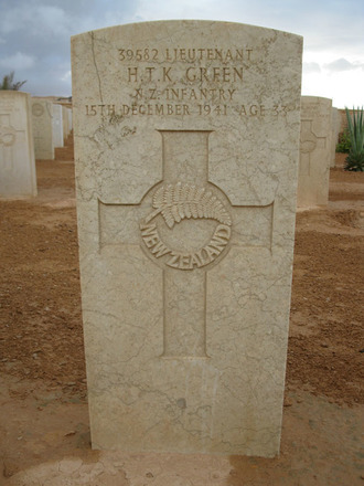 Headstone, Knightsbridge War Cemetery, Libya (photo B. Coutts, 2009) - This image may be subject to copyright