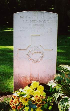 Headstone, Jonkerbos War Cemetery - This image may be subject to copyright