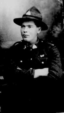 Portrait, Douglas aged 22, taken November 1918 in Paris. - No known copyright restrictions