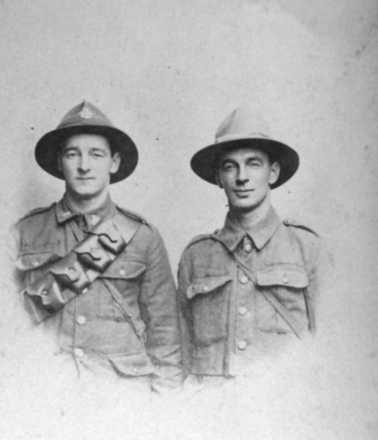 Soldiers, WW1, Bert and Percy Seccombe (we do not know which is which at this time) - No known copyright restrictions