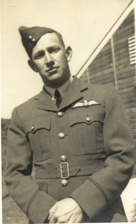 Portrait, P/O William Ralph McComb in uniform, 1938 - This image may be subject to copyright