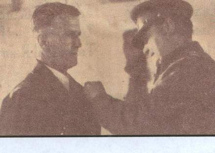 Portrait, WW2, receiving the Military Medal for gallantry - This image may be subject to copyright