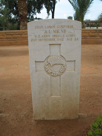 Headstone, Benghazi War Cemetery, Libya (photo B. Coutts, 2009) - This image may be subject to copyright