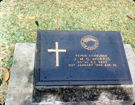 Headstone, Ambon War Cemetery, Indonesia (1997) - This image may be subject to copyright