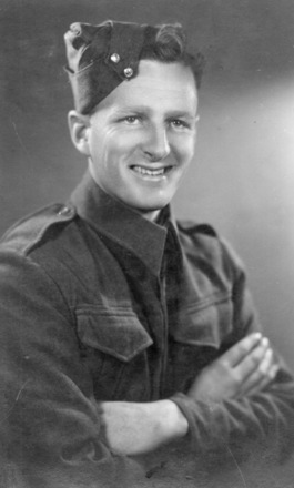 Jock (John Robertson) in uniform, Cairo 1941 - This image may be subject to copyright