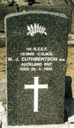 Headstone, Waikaraka Public Cemetery (Photo P Baker 2007) - No known copyright restrictions