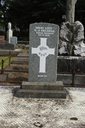 Headstone at Waikaraka (Park) Cemetery, Onehunga, Auckland, New Zealand. (Image provided by John Halpin) - CC BY John Halpin